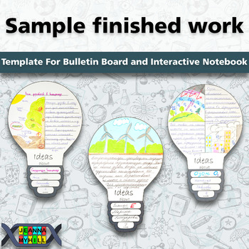 Template for Bulletin Board and Interactive Notebook: Idea Generation