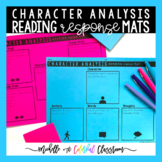Template for Character Analysis: Reading Response Mats wit