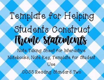 Template for Constructing Theme Statements