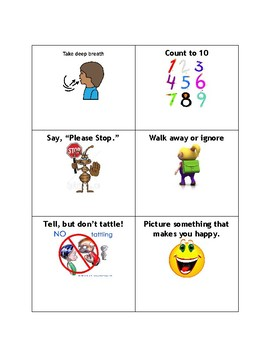 Template for Coping Skills Memory Game