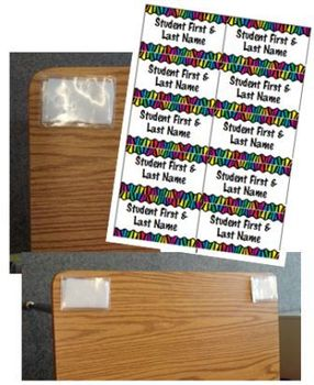 template for desk name tags when using a badge holder by 24 7 teacher
