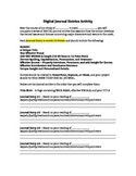 Template for Digital Journal Entries Activity