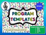 MUSIC Program Template: 4 seasonal designs for any perform