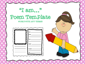 "Template for ""I Am"" Poem"