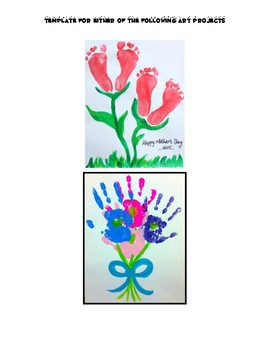 Template for Mother's Day Art Project