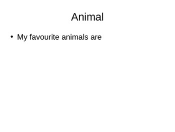 Template for My Favourite Things PowerPoint