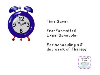 Time Saver Template for Scheduling Excel