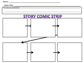 Template for Sequencing Comic Strip