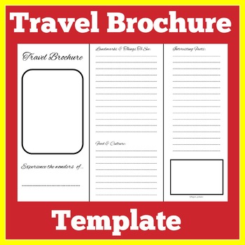 photo relating to Printable Brochure Template for Students referred to as Generate Brochure Template Worksheets Instruction Components TpT