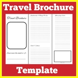 Travel Brochure Template Printable