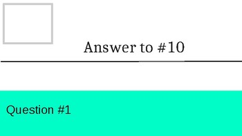 Template for Vocabulary Circuit Activity 10 questions