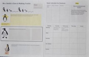 Template for Weekly Newsletter and Lesson Plans