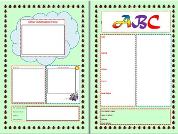 Newsletter - Editable Template - Back to School Activity
