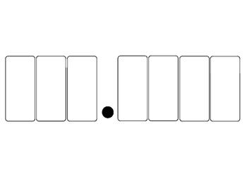 Template for organizing decimals