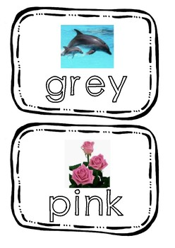 FLASH CARDS for colors and some adjectives