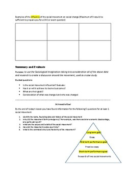Template for researching a social movement