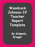 Template teacher assessment report Woodcock Johnson IV