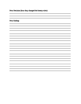Template to write an alternate ending to a short story