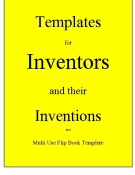 Templates Inventors and Inventions with Cover Pages, large size Flip Book