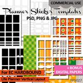 Templates Planner Stickers EC Hardbound Life Planner Verti