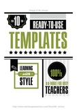Templates: Worksheets & Flashcards 10