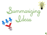 Templates and Ideas for Summarizing!