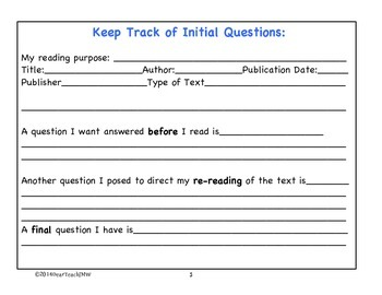 Templates for Close Readings Fiction and Nonfiction