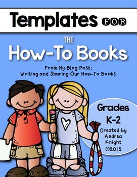 Templates for How-To Books {Grades K-2}