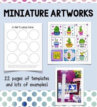 Templates for Miniature Artworks:  Inchies, Artist Trading Cards, Artist Coins