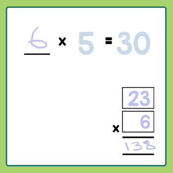 Templates for Multiplication Math Blank Clip Art Set for Commercial Use