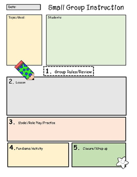 Templates for Scheduling Small Groups