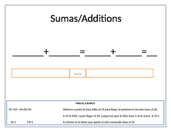 Templates for addition and subtraction //Palntillas para s