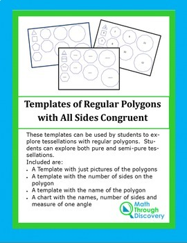 Geometry:  Templates of Regular Polygons with All Sides Congruent