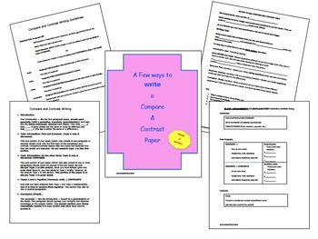 Templates to help Compare and Contrast