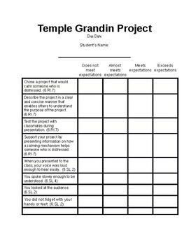 Temple Grandin Teaching Resources Teachers Pay Teachers