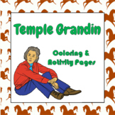 Temple Grandin Coloring and Activity Book Pages - Good for