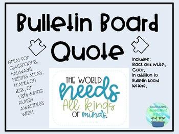 Temple Grandin Quote Poster/ Bulletin Board Set