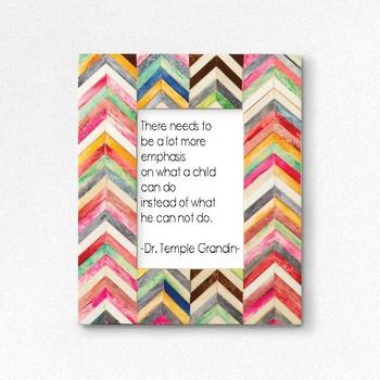 Temple Grandin Quote - Printable Poster 8x10
