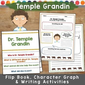 Temple Grandin Story: Flip Book, Character Graph, Writing, & More