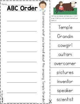 Temple Grandin - The Girl Who Thought In Pictures - Read Aloud Companion