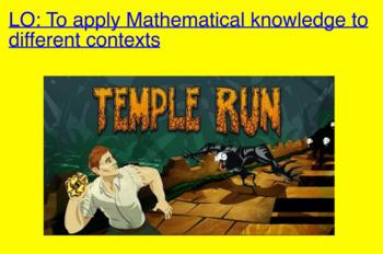 Temple Run Maths Activity