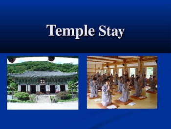 Temple Stay Presentation