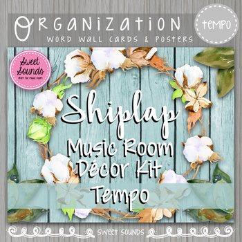 Tempo Cards Shiplap Music Room Decor