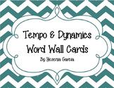 Music Tempo & Dynamics Word Wall Cards Chevron