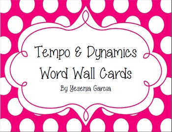 Music Tempo & Dynamics Word Wall Cards Polka Dots