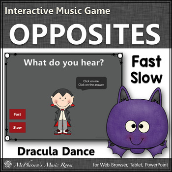 Tempo Interactive Music Game - fast or slow (Dracula)