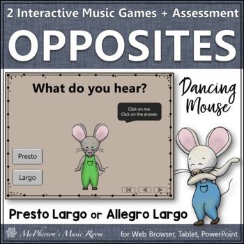 Tempo Music Opposites ~ Presto Largo Interactive Music Game {Dancing Mouse}