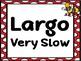 Tempo Poster Set- Bug Polka Dot Design