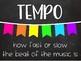 Tempo Poster Set - Chalkboard Brights