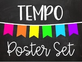 Tempo Poster Set - Chalkboard Brights